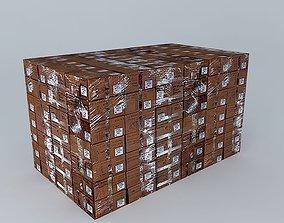 3D model cargo Boxes