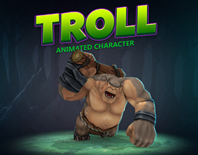 3D model Troll animated character