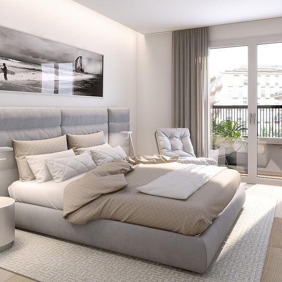 3D BEDROOM FOR A REAL ESTATE AGENCY PROMOTER