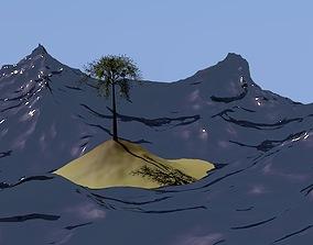 Tropical Island 3D asset