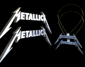 Metallica Necklace 3D print model