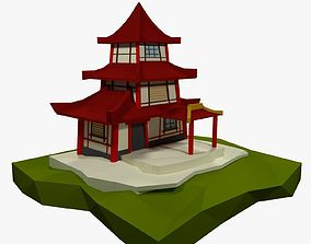 3D LowPoly Chinese House
