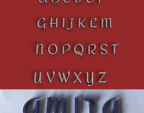 AMITA uppercase and lowercase 3D Letters STL FILE