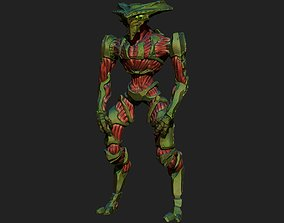 3D print model Dall Alien Warrior in standing pose with