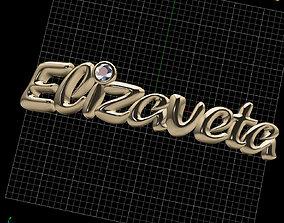 Elizaveta NAME PENDANT 3D print model