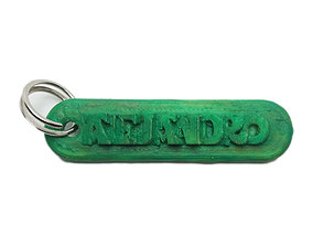 3D print model ALEJANDRO Personalized keychain embossed