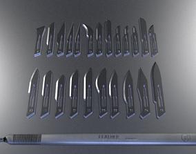 3D Printable Surgical Blades chrome