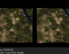 3D asset Terrain 2 Mountains and Valley