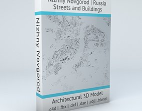 Nizhny Novgorod Streets and Buildings 3D model