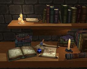 3D asset Books and Scrolls vol-02