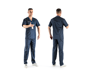 3D asset Male surgical doctor 03