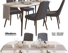 dining-table Table and chairs 2 3D model