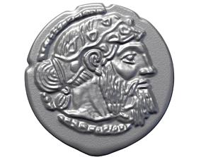 GREEK SILVER DRACHM OF NAXOS treasure 3D printable model