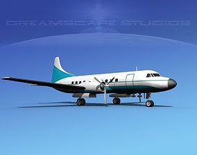 3D model Convair CV-340 Corporate 2