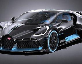 LowPoly Bugatti Divo 2019 3D model low-poly