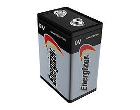 Energizer 9V Battery Game-Ready Model 3D asset realtime