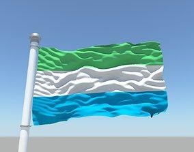3D Sierra Leone flag