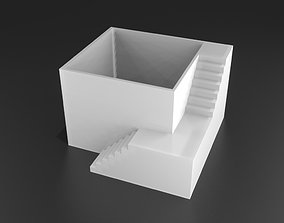 Elegant Pot Plant with stairs 3D printable