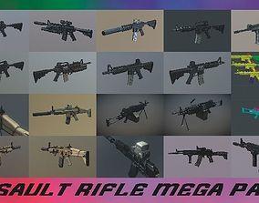 Assault Rifle GAME READY MEGA PACK 3D model
