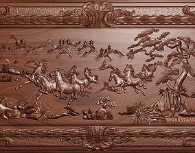 gallery Horses bas relief 3D print model