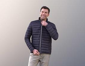 Lars 10684 - Man Standing Closing His Jacket 3D model