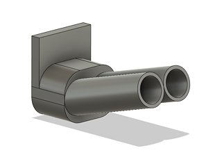 1 10 scale rc drift blast pipe exhaust 3D printable model