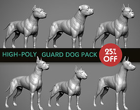 3D Guard Dog Pack High-Polly Collection