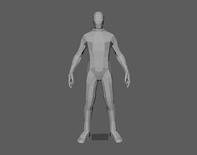 3D model 6 foot man