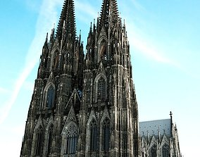 3D model Cologne Cathedral - with full interior