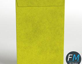 3D asset Large yellow envelope