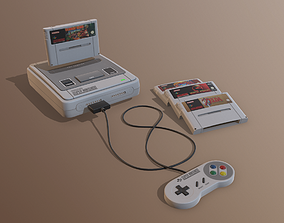 Super Nintendo EU 3D model