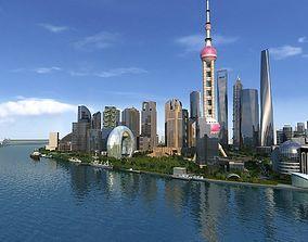 3D model Shanghai Lujiazui