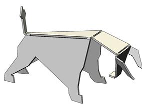bull model from sheet metal 3D animals