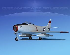 North American F-86 Sabre Jet RAAF 2 3D model