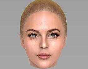 Beautiful blonde woman head TYPE 8 3D
