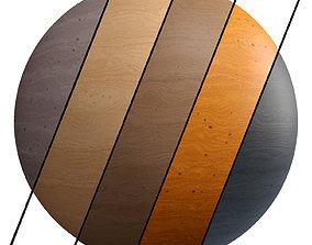 3D model 5 Wood Simple Materials PBR 4k