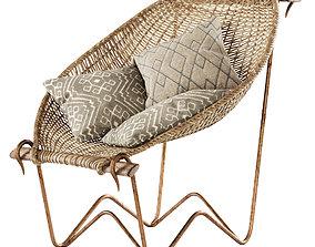 Duyan Wicker Chair by John Risley 3D