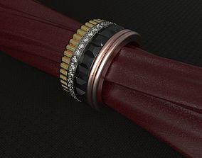 3D printable model Boucheron ring with diamonds