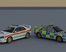 3D Subaru Impreza UK police