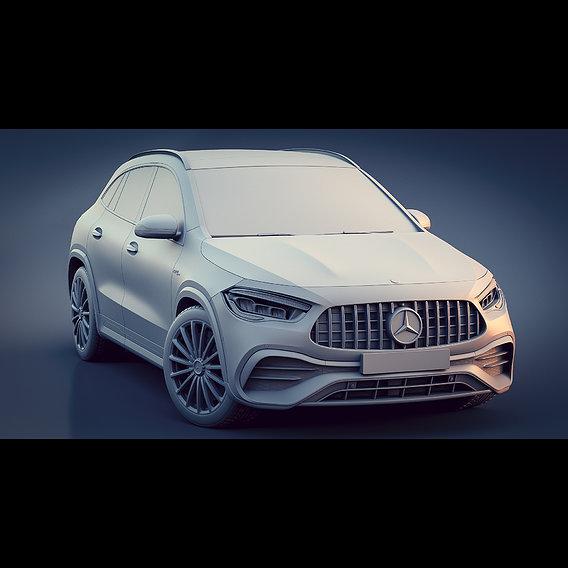Mercedes-Benz GLA 35 AMG 2020 Clay renders