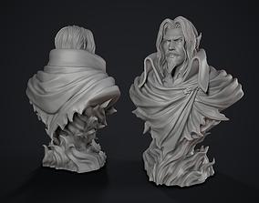 3D printable model Dracula Castle vania bust werewolf