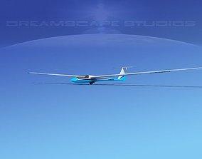 Schleicher ASW 22 Sailplane V01 3D model