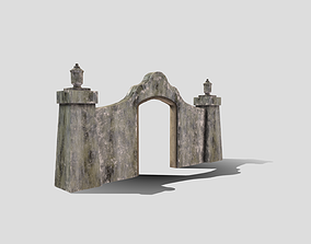 3D asset Ruined entrance way