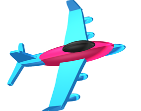 Cartoon plane boeing-747 3D model