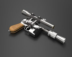 Han Solo DL-44 Blaster 3D print model