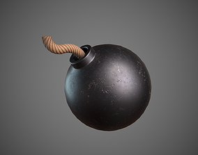 3D asset Rounded Bomb