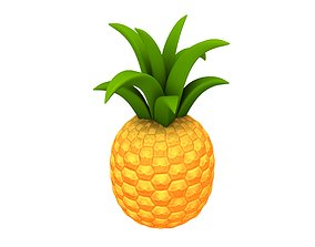 prop 3D model VR / AR ready Pineapple