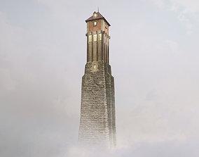 Medieval DRAGON Tower 01 3D asset VR / AR ready