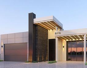 Modern House Facade Design 3D model