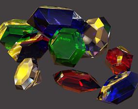 Gems and Crystals 3D asset